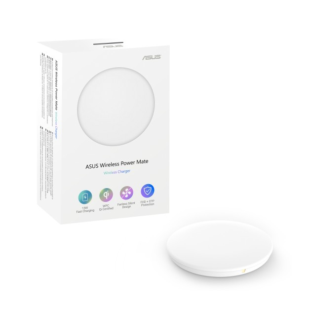 ASUS Wireless Power Mate Qi certified 15W fast wireless charger white
