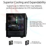 ASUS TUF Gaming GT301 ATX mid-tower cabinet with tempered glass