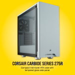 Corsair 275R Tempered Glass Mid-Tower Cabinet (White)