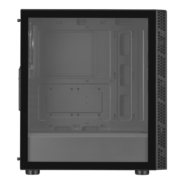 MasterBox MB600L V2 Cabinet With Tempered Glass (Black)