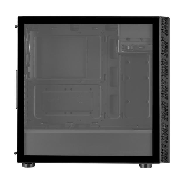 MasterBox MB600L V2 With ODD and Tempered Glass Cabinet (Black)