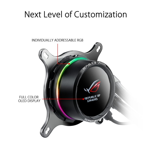 ASUS ROG Ryuo 240 all-in-one RGB liquid CPU cooler