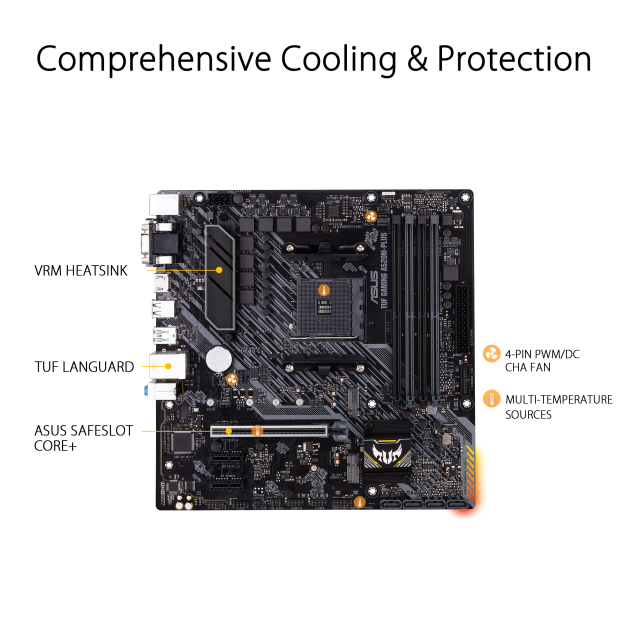 ASUS TUF GAMING A520M-PLUS AM4 micro ATX Motherboard