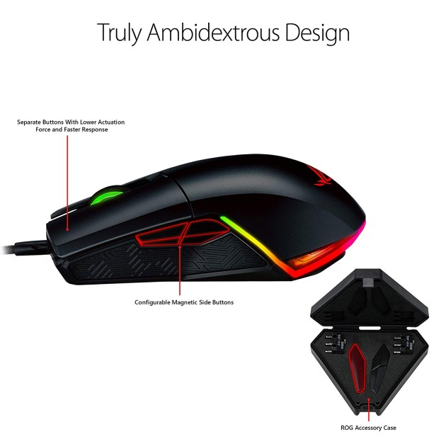 ASUS ROG Pugio 7200 DPI RGB Wired Gaming Mouse