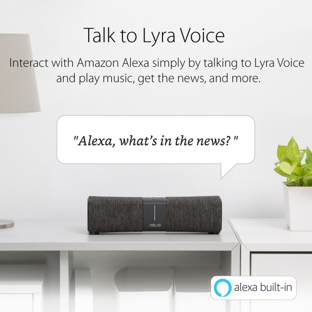 ASUS Lyra Voice All-In-One Smart Voice AC2200 Tri-Band Router