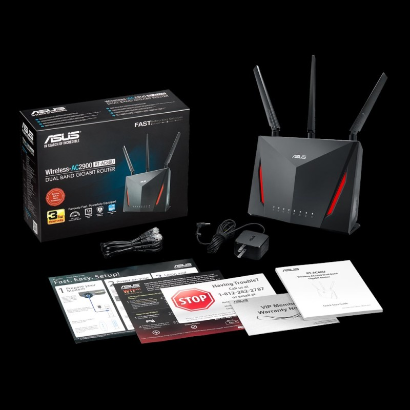 ASUS RT-AC86U AC2900 Dual Band Gaming Router