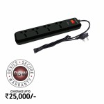 Honeywell 4 Socket Surge Protector with master switch Black